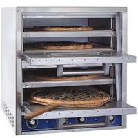 Bakers Pride P44S Countertop Deck Oven Electric Pizza Pretzel Two Compartments 4 Decks