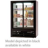 Beverage Air LV151W54 Glass Door Merchandiser 2 Sliding Glass Doors Front and Back Pass Thru 15 Cubic Feet 36L x 24D x 54H LumaVue Series White