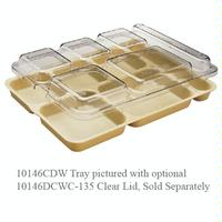 Cambro 10146DCWC135 Tray Lid Fits 6 Compartment Camwear Tray Clear Priced Each You Must Purchase in Quantities of 24