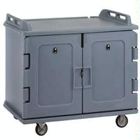 Cambro MDC1418S20191 Enclosed Tray Truck Meal Delivery Truck 20 14 x 18 Tray Capacity Low Profile Double Doors Poly Construction 5 Casters Granite Gray Healthcare and Correctional Facilities