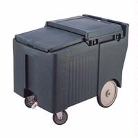 Cambro ICS175L110 Ice Caddy 175 Lb Capacity Sliding Lid Four 5 Casters Two Fixed and Two Swivel Black