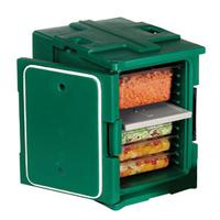 Cambro UPC400192 Pancarrier Insulated Holds 2 8 deep food pans GRANITE GREEN Camcarrier Ultra Pancarrier Series