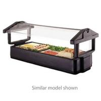 Cambro 5FBRTT110 Salad Bar Table Top 63 L x 27 H With Iced Cold Pan 4 Pan Size Breathguard Black