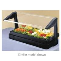 Cambro BBR720110 Salad Bar Table Top 73 L x 24 H With Iced Cold Pan 5 Pan Size Sneeze Guard Black
