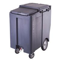 Cambro ICS200TB110 Ice Caddy 200 Lb Capacity Sliding Lid Two 5 Casters One with Brake Two 10 Caster Black