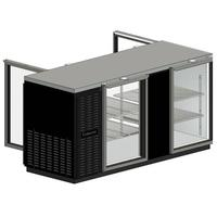 Continental Refrig BBC50GDPT Back Bar Cooler Pass Thru 4 Glass Doors with Locks Stainless Top 50 Long x 3014 D x 3634 High