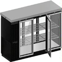 Continental Refrig BBC69GDPT Back Bar Cooler Pass Thru 6 Glass Doors with Locks Stainless Top 69 Long x 3014 D x 3634 High