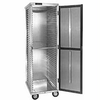 CresCor 1001841D Mobile Enclosed Transport Cabinet NonInsulated 40 Sheet Pan Capacity