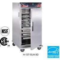 CresCor H137SUA9D Mobile Heated Cabinet Insulated Intermediate Height 9 Universal Slides on 412 Centers Up to 200 Degrees F