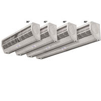 Curtron AP2421SS Air Door Curtain Low Profile 1 2Speed Motor 2 Blower Wheels 42 Wide and 84 High Opening Unheated