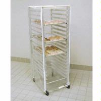 Curtron SUPRO14EC Rack Cover 12 Mil Clear PVC Standard Size 23W x 28D x 62H Zipper Flaps Does Not Include Rack Protecto Series