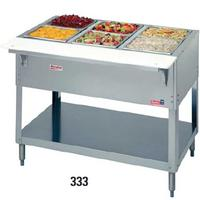 Duke Mfg 333 Cold Food Table Ice Cooled Accommodates 3 Pans 4438 Length Aerohot Series
