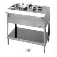 Duke Mfg 310 Solid Top Utility Counter 58375 Long x 22438 Wide x 34 High 6 Legs AeroHot Series