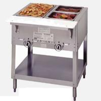 Duke Mfg E302SW Hot Food Table 2 Wells Electric 3038 Length Sealed Wells with Individual Drains Aerohot Steamtable Series