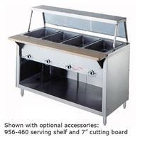Duke Mfg 30425SS Hot Food Table 4 Wells Gas 60 Length Stainless Body and Undershelf 6 Legs AeroServ Series