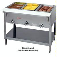 Duke Mfg E303SW Hot Food Table 3 Wells Electric 4438 Length Individual Sealed Wells with Drains Aerohot Steamtable Series