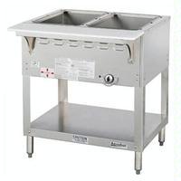 Duke Mfg WB302 Hot Food Table 2 Wells Gas 30 38 Length Wet Bath Unit One 15000 BTU Burner Safety Pilot Aerohot Steamtable Series