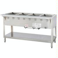 Duke Mfg WB304 Hot Food Table Food Warmer 4 Well 58 38 Length Gas Wet Bath Unit One 27000 BTU Burner Safety Pilot Aerohot Steamtable Series