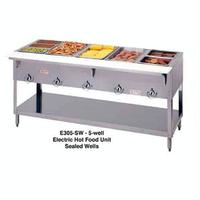 Duke Mfg E305SW Hot Food Table 5 Wells Electric 7238 Length Sealed Wells with Individual Drains Aerohot Steamtable Series