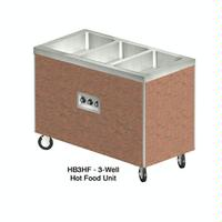 Duke Mfg HB5HF Hot Food Table 5 Wells Electric 74 Length Individual Sealed Wells with Drains Enlosed Base with Casters Heritage Series