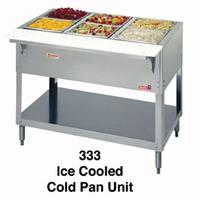 Duke Mfg 333 Cold Food Table Ice Cooled 3 Pan 4438 x 22716 Wide x 34 High Aerohot Series