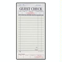 Direct Paper Supply DPSG36321 1 Part Guest Check 50 Checks Per Pad 50 Pads Per Carton Priced by the Carton