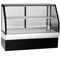 Federal Industries ECGR77 Bakery Case Refrigerated Tilt Out Curved Glass 77 Long x 48 High