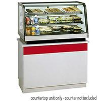 Federal Industries CRR4828 Curved Glass Refrigerated Countertop Food Display Case 48 Long Rear Mount Signature Series