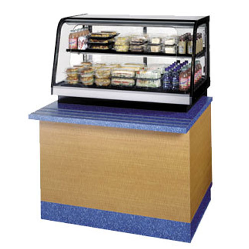 Countertop Refrigerated Display Case : ... Curved Glass Refrigerated Countertop Display Case, 36
