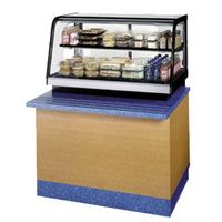 Federal Industries CRB3628SS Curved Glass Refrigerated Countertop Food Display Case 36 Long Bottom Mount SelfServe Signature Series