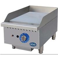 Globe GG15G Griddle Gas Countertop 15 Wide 30000 BTU Per Burner 1 Thick Plate Manual Controls