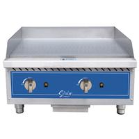 Globe GG24G Griddle Gas Countertop 24 Wide 30000 BTU Per Burner 34 Thick Plate Manual Controls