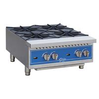 Globe GHP24G Hot Plate Gas Countertop 4 Burners 22000 BTU Each Cast Iron Burners