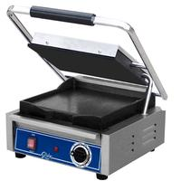 Globe Food Equipment GSG10 Bistro Panini Grill Electric Two Sided Grill 10 x 10 Smooth Plates Thermostatic Control