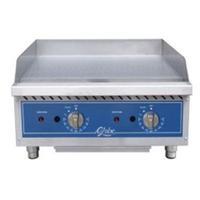 Globe GG24TG Griddle Gas Countertop 24 Wide 30000 BTU Per Burner 34 Thick Plate Thermostatic Controls