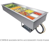 Hatco CWB4 DropIn Refrigerated Cold Wall Well 4 Pan Capacity Top Mount Electronic Temperature Control Auto Defrost