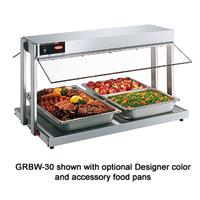 Hatco GRBW30 Buffet Warmer Countertop Unit With Heated Base Buffet Style Sneeze Guards Incandescent Lighting 1230 Watts Electric GloRay Series