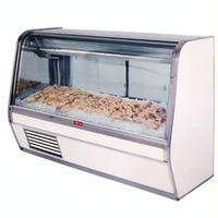 HowardMcCray SCCFS32E8C Fish and Poultry Service Display Case Single Duty 98 Long x 30 Deep x 49 High Curved Glass 32E Endless Design ICE REQUIRED 32 lbs per foot