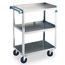 Lakeside 411 Utility Cart 500 Lb Capacity 3 Shelves 15 12 x 24 Each Stainless Steel