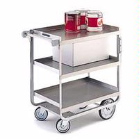 Lakeside 722 Utility Cart 700 Lb Capacity 3 Shelves 18 x 27 Each Stainless Steel