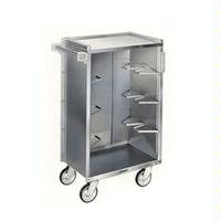 Lakeside 790 Bussing Cart 4 Enclosed Shelves 400 Lb Capacity 5 Swivel Casters
