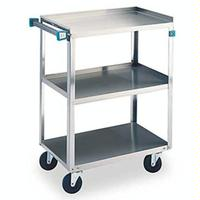 Lakeside 411 Utility Cart 500 Lb Capacity 3 Shelves 15 12 x 24 Each Stainless Steel