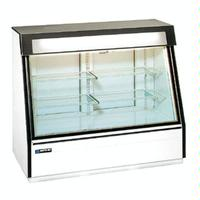 MasterBilt FIP50 Ice Cream and Novelty Merchandiser Display Freezer 60 Long x 50 High Rear Doors Textured White Steel Stainless Steel Deck