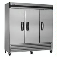 MasterBilt MBF72S ReachIn Freezer 3 Stainless Steel Doors 78 Wide 72 Cubic Feet 4 Casters Fusion Series