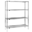 Eagle Group 2448C74X Wire Shelving Unit 4 48 Length x 24 Deep Shelves 4 74 Posts Chrome Finish RediPak Series NSF