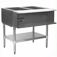 Eagle Group AWTP2NG Hot Food Table Food Warmer 2 Wells 33 Length Gas Water Bath with Safety Pilot One Drain 15000 BTU