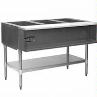 Eagle Group AWTP3NG Hot Food Table Food Warmer 3 Wells 48 Length Gas Water Bath with Safety Pilot One Drain15000 BTU