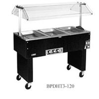 Eagle Group BPDHT3208 Hot Food Table Food Warmer 3 Wells 48 Length Electric Portable 208V Deluxe Service Mate