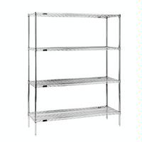 Eagle Group S4741872C Wire Shelving Starter Kit 4 18W x 72L Shelves 4 74 Posts Chrome Plated Finish NSF