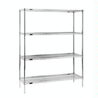 Eagle Group 1836E74 Wire Shelving Starter Kit 4 18W x 36L Shelves 4 74 Posts Green Epoxy with Microgard RediPak Series